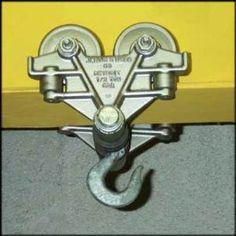 pulley storage | Beam-Trolley-1-2-TON-for-Garage-machine-shop-hoist-engines-overhead ...