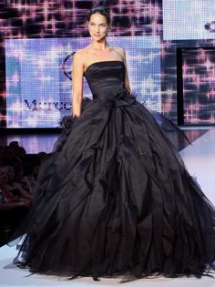 Schwarz Hochzeitskleid   Hochzeitskleid, hochzeitskleider trägerlos,