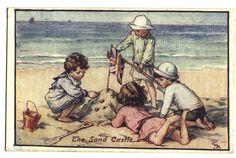 Rare Cicely M. Barker-The sand castle