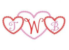 Designs :: Occasions :: Valentines Day :: Lace Heart Monogram Frame