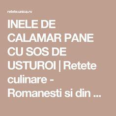 INELE DE CALAMAR PANE CU SOS DE USTUROI   Retete culinare - Romanesti si din Bucataria internationala Calamari