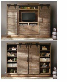 fernsehschränke rustikal wohnzimmer design holz