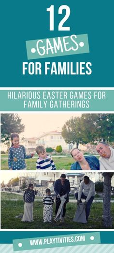 12 Hilarious Easter Games For Family Gatherings! Easter is the second biggest family gatherings of the year, so after a big meal we usually gather and play some family games! Family Reunion Activities, Family Games, Family Family, Writing Prompts For Kids, Kids Writing, Easter Games For Kids, Indoor Activities For Kids, Craft Activities, Family Game Night