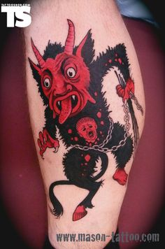 Red And Black Ink Devil Tattoo : Devil Tattoos Ghost Tattoo, Devil Tattoo, Back Tattoo, I Tattoo, Tattoo Flash, Body Art Tattoos, Cool Tattoos, Sympathy For The Devil, Weird Pictures