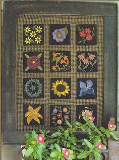 Primitive Folk Art Wool Applique Pattern A by PrimFolkArtShop, $10.00