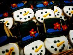 Jolly Snowman Cookies #recipe #food #Christmas