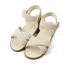 Sale 17% (12.99$) - Girls Summer Roman Sandals Princess Dress Shoes Kids Beach Breathable Open Toe Flats Children Causal