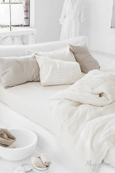 8 Best White linen bed images in 2018 | Bedroom decor, Home ...