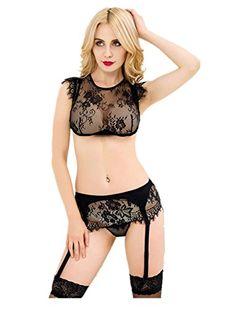 ce639501cf1 Hot New Black color plus size lace halter sexy garter bra set garter belt  design sexy special high quality transparent lingerie. Product ID: