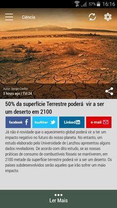 Descarregue gratuitamente a versão Android da aplicação #Born2Invest para obter a sua dose diária de notícias bem como outros resumos informativos. #earthsurface #desert #globalwarming #science