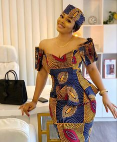 Latest African Fashion Dresses, African Dresses For Women, African Print Dresses, African Print Fashion, African Attire, African Women, Ankara Fashion, African Beauty, Ankara Gown Styles