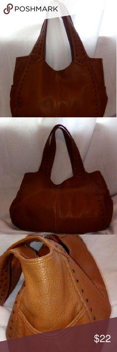 Talbot bag Hobo style soft brownish/tan leather bag zipper inside pocket has a few spots inside of bad... Bags Hobos