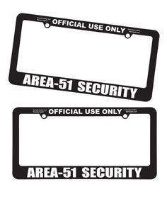 Area-51 Security License Plate Frame