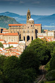 Cathedral of Notre-Dame Puy Le Puy en Velay France by arnaud frich.... Here you relax with these backyard landscaping ideas and landscape design. #Relax more with this #free #music with #BinauralBeats that can #heal you: #landscaping #LandscapingIdeas #landscapeDesign