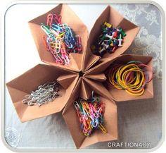 Origami Office Supply Holder