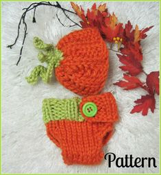 Pumpkin Hat and Diaper Cover Baby Boutique  Patterns by LaurelArts, $4.50