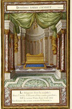 Ark of the Covenant with quotation, DOMINUS TOTIUS CREATURAE. | La vérité à la place des ombres | Emblem book | France, Paris | 1679 | The Morgan Library & Museum