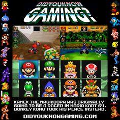 Mario Kart 64.  http://www.youtube.com/watch?v=-kuKixC-gWs