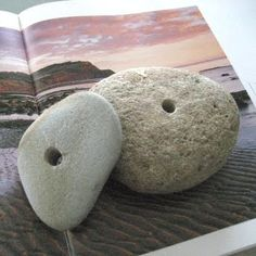 DIY - how to drill holes into beach stones (w/photos)