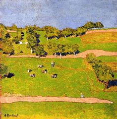 Landscape at Romanel - Edouard Vuillard - 1900