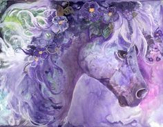 Violet Fantasy Painting by Sherry Shipley - Violet Fantasy Fine Art Prints and Posters for Sale