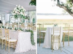 Summer & John's blush, ivory and gold inspired Lowndes Grove Plantation wedding photos. Planned and Coordinated by A Charleston Bride. Wedding photos by Aaron and Jillian Photography