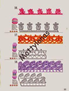 La Magia del Crochet: GALERIA DE BORDES A CROCHET
