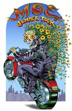 Original concert poster for Moe's 2005 Summer Tour. 20