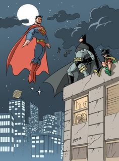 Illustration of the World's Finest: Batman and Superman