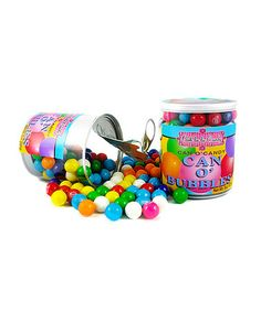 Take a look at this Can o' Bubbles Gumballs - Set of Six by Ooh La La Candy on #zulily today!