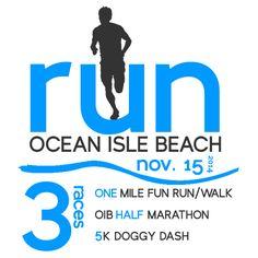 Run Ocean Isle Beach is a stroller-friendly 1/2 Marathon and 5K in Ocean Isle Beach, NC. #strollerrunner