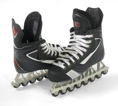 Pair of Agility Blades Synthetic Ice Skates designed specifically for training on synthetic ice to give you the same experience as frozen ice.