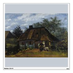 Farmhouse in Nuenen by Vincent Van Gogh Wall Graphic