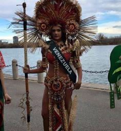 Traje Típico diseñado por Dadni Verdi, para Andrea Rosales de Princesa Indigena, para el Certamen de Miss Earth 2015 en Austria.