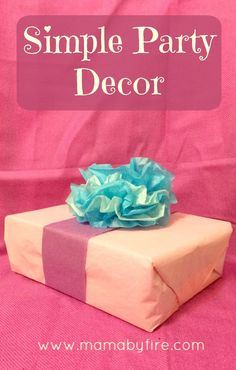 This simple party decor is so easy to make and so gorgeous!
