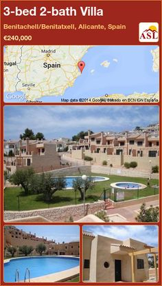 3-bed 2-bath Villa in Benitachell/Benitatxell, Alicante, Spain ►€240,000 #PropertyForSaleInSpain