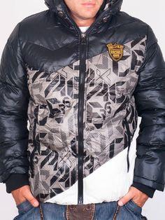 Мъжки Зимни Якета - Сиво зимно яке RACING - цена 76.00 лв.
