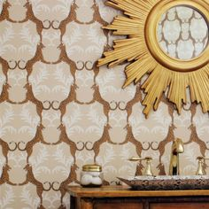 by Thibaut   'Cheetah' by Thibaut is a very popular design & looks most striking in dining rooms, powder rooms or entry halls  click here if you wish to order samples   straight match  pattern repeat - 13 in roll 20.5 in wide, 33 ft long coverage 56 sq. ft.