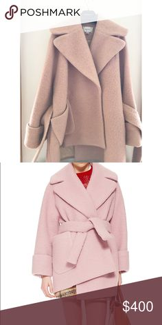 Carven Oversized Pink Cocoon Coat Pink oversized coat. Blogger favorite. Worn during the winter of 2016. Small signs of wear. Carven Jackets & Coats