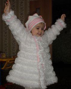 вязание пальто из травки для детей