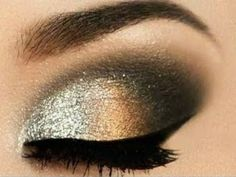 #eyes #eye #occhi #makeup #trucco #golden #silver #glitter #capodanno #newyearseve