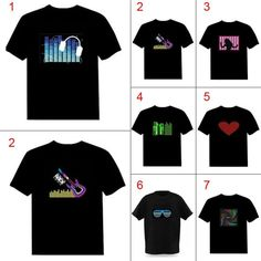 Hot Sale Sound Activated Led Cotton T Shirt Light Up And Down Flashing Equalizer El T-shirt Men For Rock Disco Party Dj Top Tee Handsome Appearance Anime Costumes