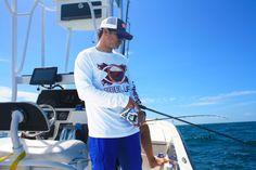 Check out Reel Life Pro Staff Capt. Marko doing a little bottom fishing while wearing his NEW Florida Performance Fishing Shirt. #reellife #letsgetreel #florida #floridakeys #Gainesville #gators #FSU #UCF #UF #UM #Miami #northflorida #offshorefishing