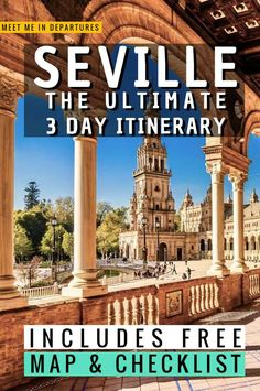 Seville Itinerary | The best things to see in Seville, Spain | Visiting Seville | What to do in Seville | Free stuff in Seville | Southern Spain | Day trips from Seville | Where to stay in Seville | Seville Bucketlist | When to visit Seville | Seville Alcazar | Plaza de Espania | Seville Cathedral | Triana | Seville in 3 days | Spain Travel | Andalucia #Spain #Andalucia #Seville Europe Travel Guide, Spain Travel, Travel Guides, Portugal Travel, Travel Abroad, Places In Europe, Europe Destinations, European Vacation, European Travel
