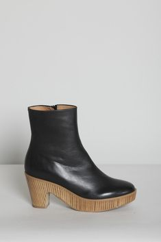 MMM - stacked ankle boot