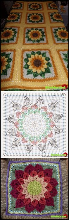 Transcendent Crochet a Solid Granny Square Ideas. Inconceivable Crochet a Solid Granny Square Ideas. Motifs Afghans, Crochet Motifs, Crochet Quilt, Crochet Blocks, Crochet Pillow, Crochet Mandala, Crochet Diagram, Crochet Chart, Crochet Squares