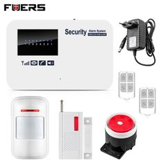 Fuers Wireless GSM Home Alarm System SMS Autodial House Home Security System Intruder Alarm Russian/English Voice G11A alarm #Affiliate