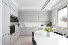 Kitchen Sets, Kitchen Dining, Kitchen Cabinets, Cool Kitchens, Sweet Home, Interior, Room, Helsinki, Home Decor