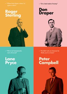 Interesting color scheme for Mad Men. Graphisches Design, Game Design, Flyer Design, Layout Design, Branding Design, Logo Design, Graphic Design Posters, Graphic Design Inspiration, Banner Design