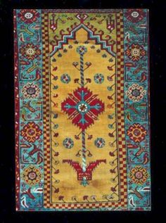 Old village prayer rug from the Ladik or Konya area, Turkey